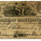 Maryland, Baltimore, Bank of Maryland, $5, Aug 9, 1832