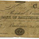 Maryland, Baltimore, Bank of Baltimore, $2, March 22, 1842