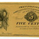 Massachusetts, Boston, Chas. P. Poinier, 5 Cents, Nov 1st, 1862