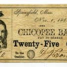 Massachusetts, Springfield, DJ Bartlett, 25 Cents, Nov 1, 1862