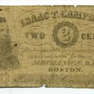 Massachusetts, Boston, Isaac T Campbell, 2 Cents, No Date (1862-64)