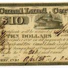Indiana, Peru, Canal Land Certificate, $5, April 5, 1842