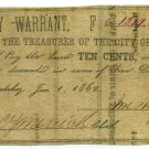 Mississippi, Natchez, City of Natchez, 10 Cents (1 Dime), Jan 1, 1862
