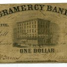 Indiana, LaFayette, Gramercy Bank, $1, November 25, 1852