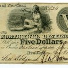 New York, New York, The North River Banking Co., $5, Jan. 18, 1840