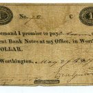 Ohio, Worthington, Ezra Griswold, $1, May 29, 1819