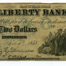 Rhode Island, Providence, The Liberty Bank, $2, Dec. 10, 1858