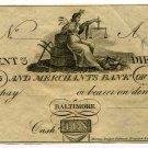 Maryland, Baltimore, Farmers and Merchants Bank, $10, 1810s