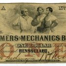 Indiana, Rensselaer, Farmers and Mechanics Bank, $1, March 1, 1854
