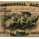 Indiana, Terre Haute, Commercial Exchange Bank, $10, Aug 3,1858