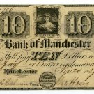 Michigan, Manchester, Bank of Manchester, $10, Nov 20, 1837