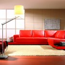 Contemporary Red Leather Sectional  WaVe !