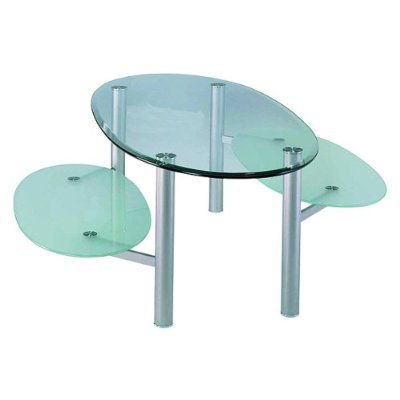 Modern 3 Tier Glass Coffee Table