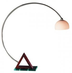 Modern Orbit Collection Wood and Acrylic Arc Desk Lamp