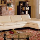 Contemporary Modern Leather Flaminio Sectional