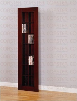 CD/DVD Storage Rack in Cappuccino Finish