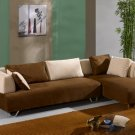 Contemporary Manhattan microfiber sectional closeout