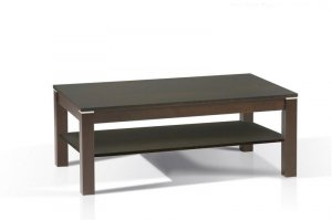 Dark Walnut Modern Coffee Table