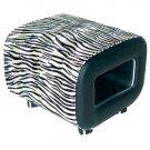 Modern Animal & Graphic Print Ottoman with Storage