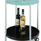 Modern Mod Glass End Table or Mobile Wine Cart Enta R