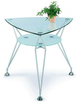 Enta-378 Modern Contemporary Glass Top End Side Table