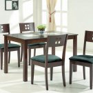 Cafe 45 Contemporary Modern Dining Table  Wood & Glass