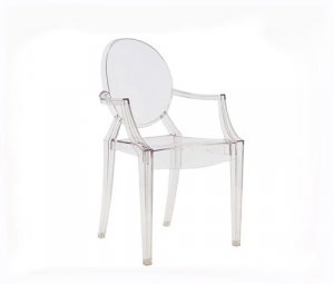 Clear Louis Ghost Chairs Acrylic Clear Arm Chair NEW