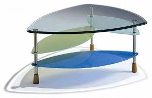 Contemporary Modern Colorful Glass Coffee Table Unique