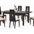 Modern Contemporary Dining Table & Chairs Set Walnut
