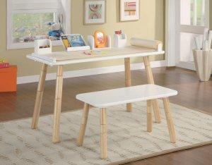 Childrens Kids Art Table & Bench Chair Set Adjustable