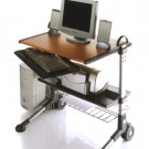 Small Wood Computer Desk Office Table Mobile Cart