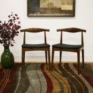 Hans Wegner Elbow Style Dining Chair Mid Century Modern