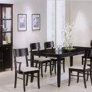 Unique Black Wood Dining Table and Chairs Set - 5 PC