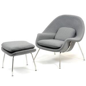 Eero Saarinen Knoll Era Mid Century Womb Chair Ottoman