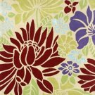 Modern Shabby Chic Style Bold Floral Accent Rug Beige