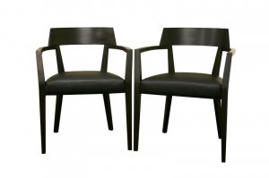 Danish Modern Mid Century Dining Side Chairs Set of 2