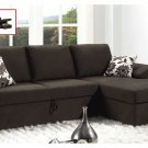 Modern Upholstered Sleeper Sofa Bed Sectional & Storage