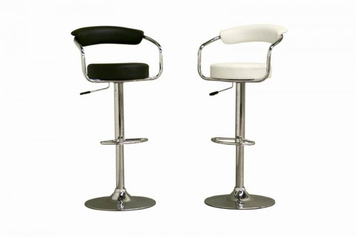 modern swivel leather bar stools barstools black white
