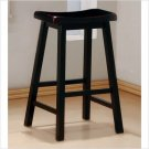 "29"" Oak or Black Wood Bar Stools Wooden Barstools Set"