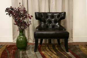 Modern Faux Leather Living Room Side Accent Chairs