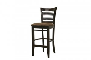 Contemporary Dark Wood Wooden Bar Stool Barstools