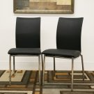 Modern Contemporary Leather Dining Room Chairs Set of 4