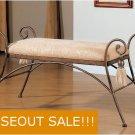 Bedroom Bed Scrolled Metal Bench Vanity Stool Chair