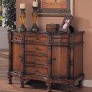 Oak Wood Antique Finish Storage Cabinet Dresser Drawer