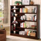 Modern Cappuccino Wood Bookcase Book Display Shelf Case