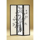 Zen Room Office Divider Folding Screen Black Japanese