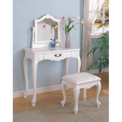 white wood bedroom vanity set makeup table mirror stool