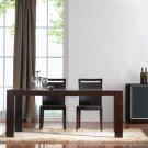 Modern Walnut Adjustable Length Leaf Dining Room Table