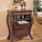 Secretary Bombe Hall Chest Desk with Drop Lid Storage