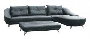 Genuine Italian Leather Sectional Sofa Couch Modern New